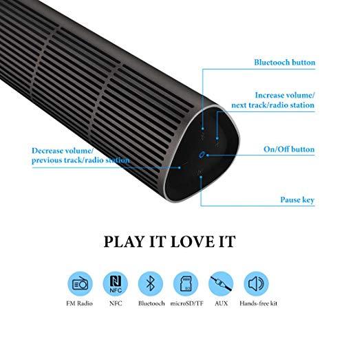 Altavoz Bluetooth EC Technology, Altavoces Portátiles 10W con 12h de Reproducción, con Sonido Estéreo y Bajos para Smart Phones, Tablets,...