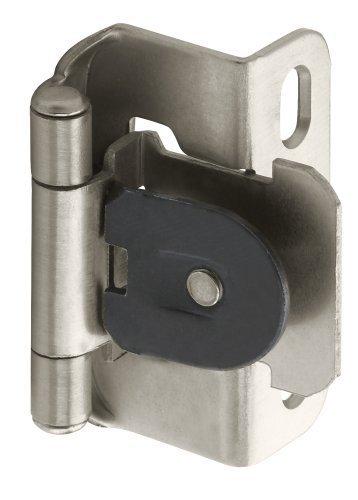 Amerock BP8719-G10 1/2-inch (13mm) Overlay Single Demountable Cabinet Hinge, Satin Nickel - 10 Pair (20 Units)