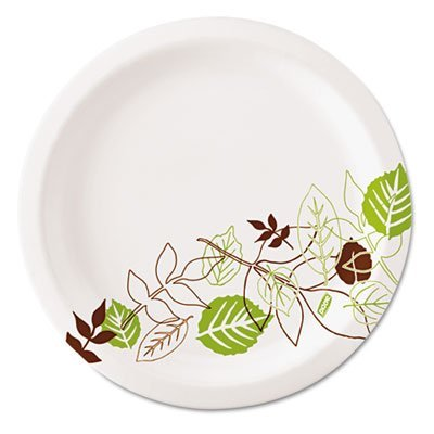 Dixie Ultralux Pathways Paper Plates, 8.5, Green/Burgundy