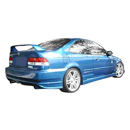 Duraflex Replacement for 1996-2000 Honda Civic 2DR / HB Bomber Side Skirts Rocker Panels - 2 Piece ()
