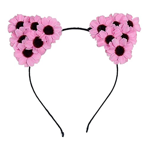 ACTLATI Children's Devil Cat Ears Headband Fancy Dress Costume Party Cosplay Flower Headdress Hair Accessories (Naughty Devil Costume)