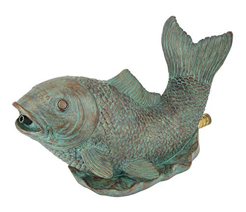 (PondMaster 03770 Spouting Fish Resin Statue Fountain Spitter Garden & Pond Decor)