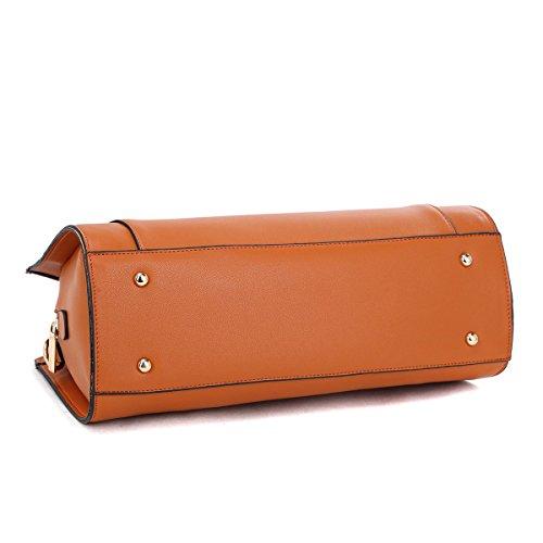 01b67d0ec696 Dasein Women Designer Satchel Handbags Purse Shoulder Bag Work Bag With Removable  Shoulder Strap - Buy Online in Oman.