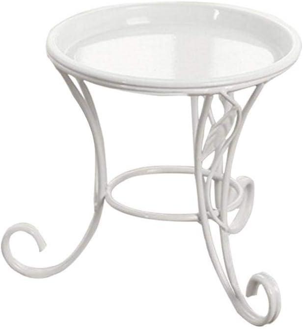 Lembeauty - Soporte multifuncional para macetas de hierro, estante de hierro suculento, estante de hierro para interiores y exteriores, jardín, patio, escritorio, balcón, decoración.
