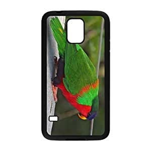 Th Green Feather Parrot Hight Quality Plastic Case for Samsung Galaxy S5