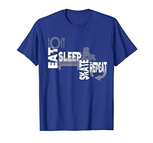 Skater Shirt Eat Sleep Skate Repeat Inline Skater