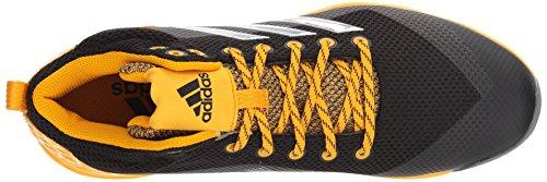 Scarpa Da Baseball Adidas Mens Freak X Carbon Mid, Nucleo Nero, Argento Coniato, Oro Collegiata, 15 M Us