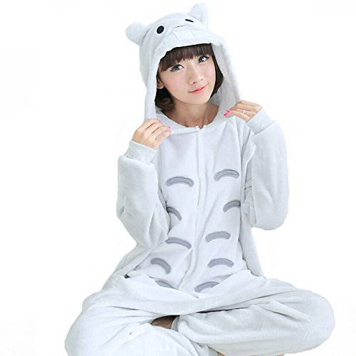 [QinYing Cartoon Sleepsuit Adult Casual Pajamas Party Cute Totoro Cosplay Costumes] (Cute Tiger Costumes Women)