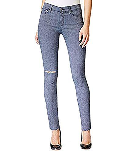 (Buffalo David Bitton Faith Women's Ripped Skinny Railroad-Stripe Wash Jeans)