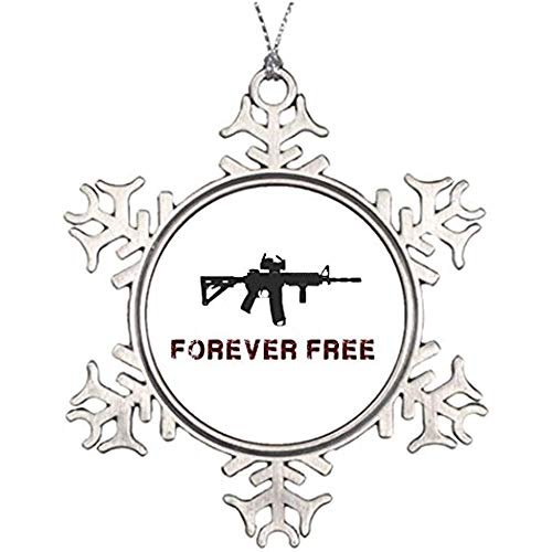 Diuangfoong Ideas for Decorating Christmas Trees Forever Free Western Snowflake Ornaments Libertarian