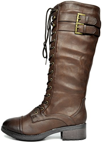 PAIRS Casual Georgia DREAM Pull Boots Knee GEORGIA On Furs Women's brown High 6wxdxAfqp