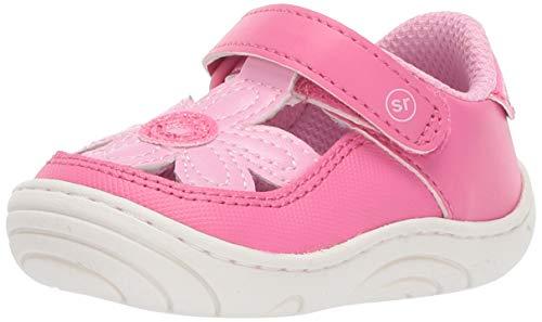 Stride Rite Daisy Girl's Flower T-Strap Sneaker, pink, 5.5 M US Toddler