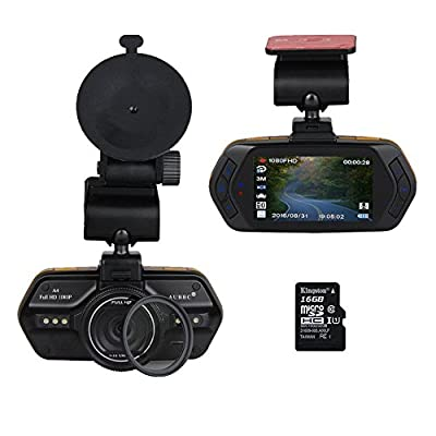 "SpyGear-AUBBC A4 2.7""LCD Full HD 1080P Car Vehicle HD Dash Cam DVR Camera Recorder WDR Night Vision with G-Sensor,Loop Recording,Support 16GB Micro SD Card - USCBB"
