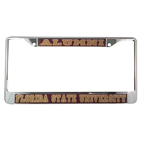 Florida State University License Plate Frame/Tag For Front Back of Car Officially Licensed (Alumni - Metal Frame)