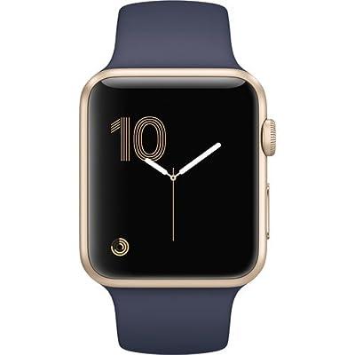 Apple Watch Series 1 42mm Smartwatch (Gold Aluminum Case, Midnight Blue Sport Band)