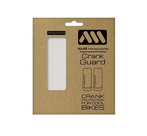 All Mountain Style Crank Guard Specially designed to protect crank arms of mountain and road bikes from scratches and rubbing, Clear/Silver , One - Bike Ams
