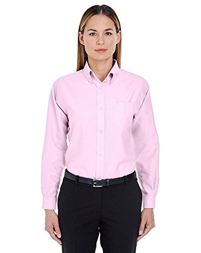 UltraClub 8990 Ladies Oxford Shirt Pink XX-Large ()