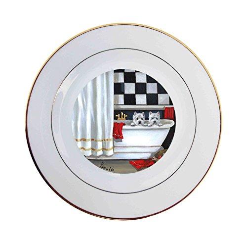West Highland Terrier Bath Time-Ceramic Plate