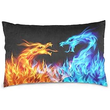Amazon Com Interestprint Custom Blue Red Fiery Dragons