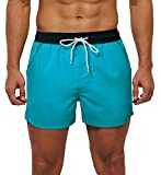 SILKWORLD Men's Quick Dry Swim Trunks Solid
