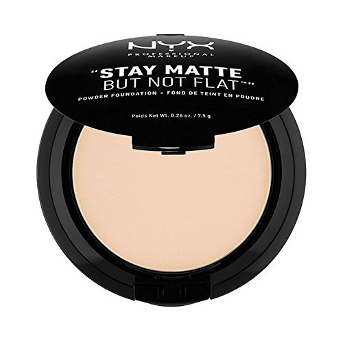NYX PROFESSIONAL MAKEUP Stay Matte but not Flat Powder Foundation, Ivory, 0.26 Ounce (Flat Skin)