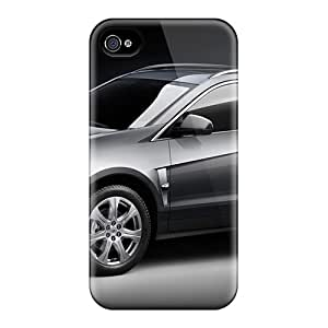 Iphone 4/4s Case Cover - Slim Fit Tpu Protector Shock Absorbent Case (cadillac Srx Crossover Suv)