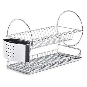 Amazon.com: Zeller 27266 42.5 x 23 x 30 cm Plate Drying Rack ...