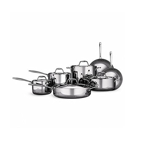 Tramontina Tri-ply Clad Stainless Steel Cookware Set - 12 Pcs. 18/10 Stainless Steel & Induction Ready