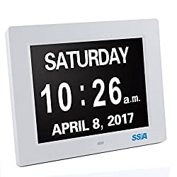 Dxmart Digital Day Clock Dementia Clock with Extra Large Non Abbreviated Day Month for Elderly 8
