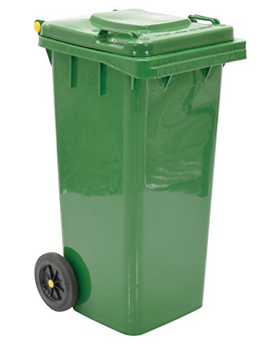 Vestil TH-32-GRN Polyethylene Garbage Can, 18-1/2