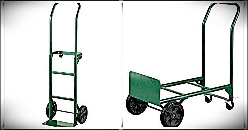 Adjustable Folding Convertible Multi-Purpose Dolly and Cart Utility Hand Truck with 400 LB Weight Capacity by Harper Trucks ()