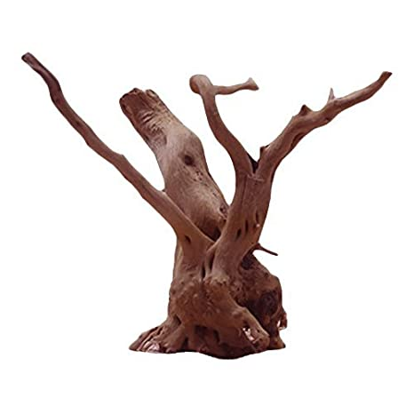 BIEE,Natural Tree Trunk Driftwood Aquarium Fish Tank Plant Wood Decoration Ornament Natural Wooden Tree Shape Craft Embellishments Decoration DIY Arts Crafts Making 1 Piece