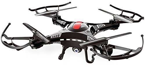 URGE Basics 6-Axis Gyro 2.4G Quadcopter Drone Helicopter RC With Built-in Camera/Camcorder for Pictures and Video - Retail Packaging - Black