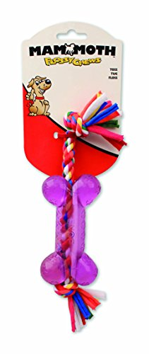 Mammoth Cloth Rope with TPR Bone Toy, Small