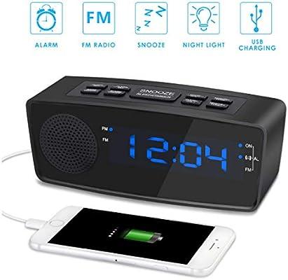 XZHH Reloj Despertador Pantalla Led Regulable Reloj con ...