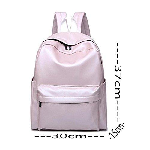PU Estudiantes Escuela Capacidad Grande Simple Bolso De Escuela Bolso Del Ordenador Portátil Colorido Purple