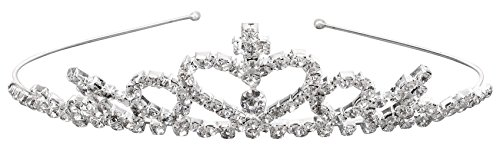 [Girl's Princess Crystal Tiara Crown for Weddings Bridal, One Piece] (Homemade Childrens King Costumes)