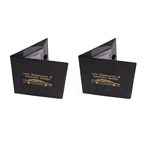 New Auto Registration and Insurance Holder Black Document Id Case for Car Truck Boat Set of 2 supplier