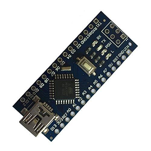 KEKDORY Mini-Steckbrett-freundliche USB Nano V3.0 ATmega328 5V-Mikrocontroller-Platine Spannungsregler f/ür Arduino-kompatibel Blau