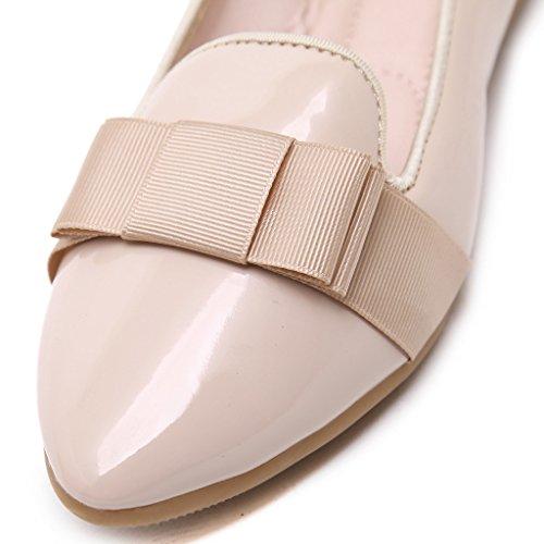Lemontree Damen PU Leder Flats Ballerinas 339 Beige