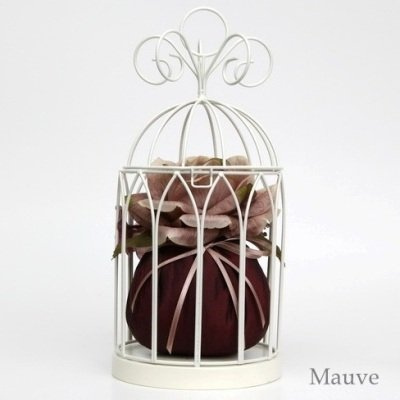 DF950 Flora Bunda Birdcage Jewelry Hanger Sachet -12pieces (Mauve) by Flora Bunda