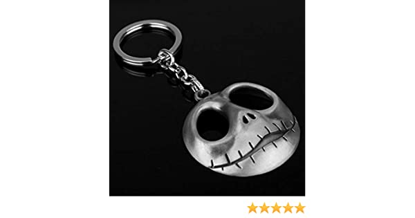 CHITOP 1 PCS! Movie The Nightmare Before Christmas -Jack Keyring Skull Mask Pendant Anime Keychain Toys (3)