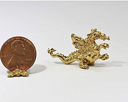 Miniature 1:12 Scale Gold Dragon Statue