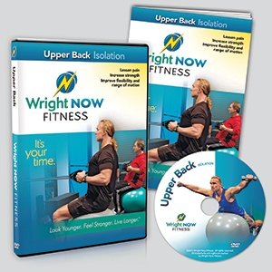 Upper Back Isolation Exercise and Stretch Workout DVD to Lessen Pain, Increase Strength, Improve Flexibility and Range of Motion with Aaron Wright (Exercises To Increase Range Of Motion In Shoulder)