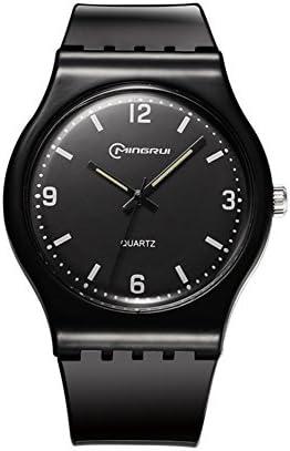 [子]クオーツ腕時計、学生レジャー防水時計ラウンドゴムピンバックルstrap-t