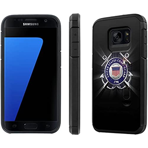 Galaxy [S7] [5.1 Screen] Defender Hybrid Case [SlickCandy] [Black/Black] Dual Layer Protection [Kick Stand] [Shock Proof] Phone Case - [United States Coast Sales
