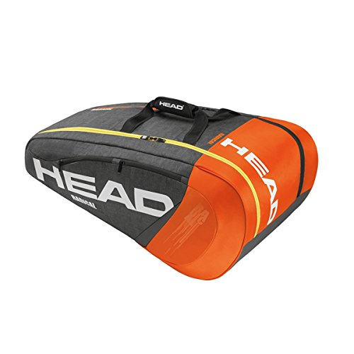 Head Radical 9R Supercombi Tennis Bag-Orange/Charcoal by HEAD