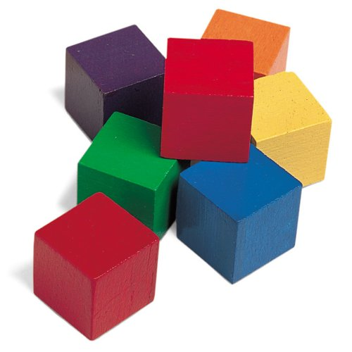 Learning Resources Wooden Color Cubes