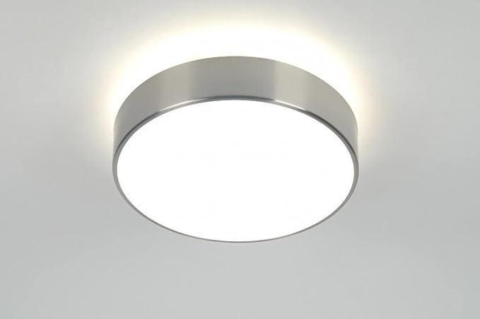 Plafoniere Bagno Moderno : Lumi dora plafoniera con vetro moderno acciaio grigio bianco