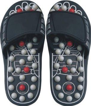 Рефлексология сандалии черный и Pearl - большой